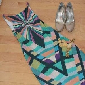 Mara Hoffman Prism V-Back Midi Dress, size S